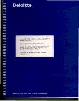 Báo cáo tài chính năm 2009 (đã kiểm toán) - Công ty Cổ phần Đầu tư Xây dựng Bình Chánh