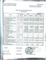 Báo cáo KQKD quý 1 năm 2013 - Công ty cổ phần Khoáng sản Bình Định