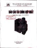 Báo cáo tài chính hợp nhất quý 4 năm 2011 - Công ty Cổ phần Đầu tư Xây dựng Bình Chánh