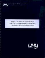 Báo cáo tài chính quý 2 năm 2014 (đã soát xét) - Công ty Cổ phần Chứng khoán BETA