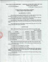 Nghị quyết Đại hội cổ đông thường niên - Tổng Công ty Cổ phần Bảo hiểm Ngân hàng Đầu tư và phát triển Việt Nam