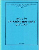 Báo cáo tài chính hợp nhất quý 1 năm 2012 - Công ty cổ phần Đầu tư Hạ tầng Kỹ thuật T.P Hồ Chí Minh