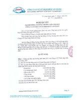 Nghị quyết Đại hội cổ đông thường niên năm 2013 - Công ty cổ phần Xuất nhập khẩu An Giang