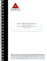 Báo cáo tài chính công ty mẹ năm 2013 (đã kiểm toán) - Công ty Cổ phần Alphanam E&C
