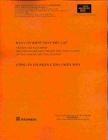 Báo cáo tài chính năm 2015 (đã kiểm toán) - CTCP Cảng Chân Mây
