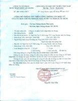 Báo cáo tài chính quý 1 năm 2015 - Công ty cổ phần Xuất nhập khẩu An Giang