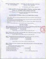 Nghị quyết Đại hội cổ đông thường niên năm 2013 - Công ty Cổ phần Sơn Á Đông