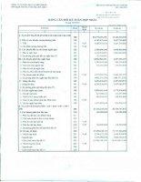 Báo cáo tài chính hợp nhất quý 3 năm 2011 - Công ty Cổ phần Dịch vụ Bến Thành