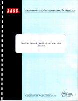 Báo cáo tài chính năm 2014 (đã kiểm toán) - Công ty cổ phần Khoáng sản Bình Định