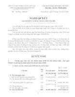 Nghị quyết đại hội cổ đông ngày 08-04-2009 - Công ty cổ phần VICEM Bao bì Bút Sơn