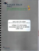 Báo cáo tài chính công ty mẹ năm 2015 (đã kiểm toán) - Công ty Cổ phần Khoáng sản & Xi măng Cần Thơ