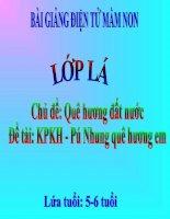 Bài giảng điện tử mầm non lớp Lá đề tài KPKH  Pú Nhung quê hương em