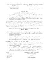 Nghị quyết đại hội cổ đông ngày 9-2-2010 - Công ty Cổ phần Chứng khoán An Phát