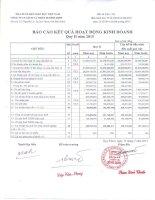Báo cáo tài chính quý 2 năm 2015 - Công ty Cổ phần Sách và Thiết bị Bình Định