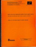 Báo cáo tài chính hợp nhất năm 2011 (đã kiểm toán) - Công ty Cổ phần Dịch vụ Bến Thành