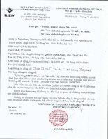 Báo cáo tài chính công ty mẹ quý 3 năm 2015 - Ngân hàng Thương mại cổ phần Đầu tư và Phát triển Việt Nam