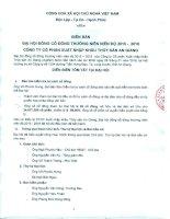 Nghị quyết Đại hội cổ đông thường niên - Công ty Cổ phần Xuất nhập khẩu Thủy sản An Giang