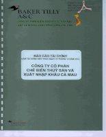 Báo cáo tài chính công ty mẹ năm 2014 (đã kiểm toán) - Công ty Cổ phần Chế biến và Xuất nhập khẩu Thuỷ sản Cà Mau