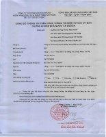 Báo cáo tài chính quý 4 năm 2014 - Công ty cổ phần Chứng khoán Ngân hàng Đầu tư và Phát triển Việt Nam