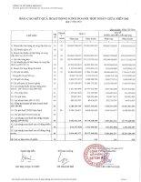 Báo cáo KQKD hợp nhất quý 1 năm 2012 - Công ty Cổ phần Beton 6