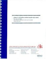 Báo cáo tài chính năm 2009 (đã kiểm toán) - Công ty Cổ phần Chứng khoán Bảo Minh