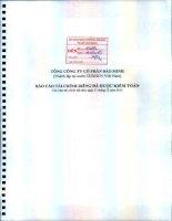 Báo cáo tài chính công ty mẹ năm 2014 (đã kiểm toán) - Tổng Công ty Cổ phần Bảo Minh