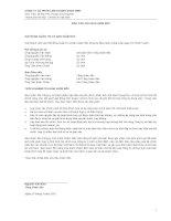 Báo cáo tài chính quý 1 năm 2012 - Công ty cổ phần Liên doanh SANA WMT