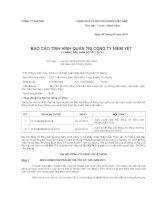 Báo cáo tình hình quản trị công ty - Công ty Cổ phần Xuất nhập khẩu Thủy sản An Giang