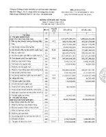 Báo cáo tài chính quý 1 năm 2015 - Công ty cổ phần Chứng khoán Ngân hàng Đầu tư và Phát triển Việt Nam