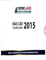 Báo cáo thường niên năm 2015 - Công ty Cổ phần Đầu tư và Phát triển Nhà đất COTEC