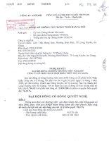 Nghị quyết Đại hội cổ đông thường niên năm 2009 - Công ty Cổ phần Xuất nhập khẩu Thủy sản An Giang