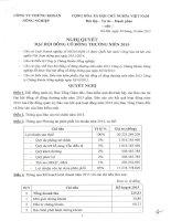 Nghị quyết Đại hội cổ đông thường niên - Công ty Cổ phần Chứng khoán Nông nghiệp và Phát triển Nông thôn