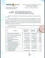 Báo cáo tài chính quý 3 năm 2014 - Công ty Cổ phần Chứng khoán Bảo Việt
