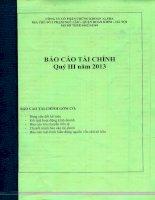 Báo cáo tài chính quý 3 năm 2013 - Công ty Cổ phần Chứng khoán ALPHA