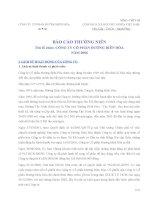 Báo cáo thường niên năm 2006 - Công ty Cổ phần Đường Biên Hoà