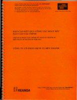 Báo cáo tài chính công ty mẹ quý 2 năm 2011 (đã soát xét) - Công ty Cổ phần Dịch vụ Bến Thành
