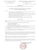 Nghị quyết Đại hội cổ đông bất thường - Công ty Cổ phần Gò Đàng