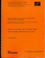 Báo cáo tài chính công ty mẹ quý 2 năm 2013 (đã soát xét) - Công ty Cổ phần Đầu tư Phát triển Công nghiệp - Thương mại Củ Chi