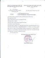 Nghị quyết Đại hội cổ đông bất thường - Công ty Cổ phần Khai thác và Chế biến Khoáng sản Bắc Giang