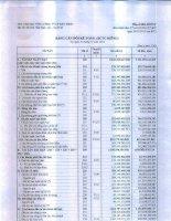 Báo cáo tài chính công ty mẹ quý 4 năm 2014 - Tổng Công ty Cổ phần Bảo Minh
