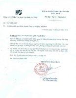 Báo cáo tài chính công ty mẹ quý 3 năm 2014 - Công ty Cổ phần Văn hóa Tân Bình