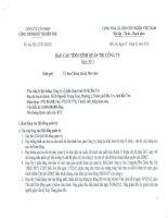 Báo cáo tình hình quản trị công ty - CTCP Công trình Đô thị Bến Tre