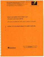 Báo cáo tài chính năm 2015 (đã kiểm toán) - Công ty Cổ phần Dịch vụ Bến Thành