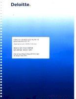 Báo cáo tài chính công ty mẹ quý 2 năm 2012 (đã soát xét) - Công ty Cổ phần Xây dựng và Kinh doanh Vật tư