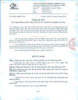 Nghị quyết Hội đồng Quản trị - Công ty Cổ phần Thương nghiệp Cà Mau