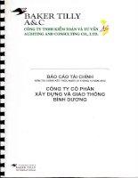 Báo cáo tài chính năm 2012 (đã kiểm toán) - Công ty Cổ phần Xây dựng và Giao thông Bình Dương