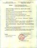 Nghị quyết Hội đồng Quản trị - Công ty Cổ phần Thương mại - Dịch vụ Bến Thành