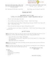 Nghị quyết Hội đồng Quản trị - Công ty Cổ phần Sách - Thiết bị Bình Thuận