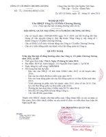 Nghị quyết Hội đồng Quản trị - Công ty Cổ phần Chương Dương