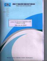 Báo cáo tài chính quý 2 năm 2014 (đã soát xét) - Công ty Cổ phần Khoáng sản Vinas A Lưới